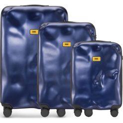 Walizki Icon w zestawie 3 el. granatowy. Walizki męskie Crash Baggage, z materiału. Za 2,628.00 zł.