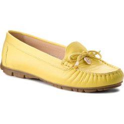 Mokasyny BALDACCINI - 802000-H Żółty. Żółte mokasyny damskie Baldaccini, ze skóry. W wyprzedaży za 199.00 zł.