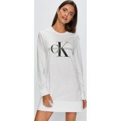 Calvin Klein Underwear - Koszula nocna. Szare koszule nocne damskie Calvin Klein Underwear, z bawełny. Za 199.90 zł.