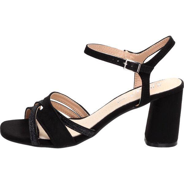 Czarne sandały damskie S.BARSKI 1530 18 SŁUPEK