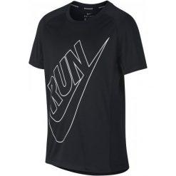 Nike Koszulka B Nk Dry Top Ss Miler Gfx Black L. Czarne t-shirty dla chłopców Nike, z tkaniny. Za 105.00 zł.