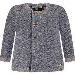 Kardigan w kolorze szarym. Szare swetry dla dziewczynek bellybutton, z bawełny, z okrągłym kołnierzem. W wyprzedaży za 77.95 zł.