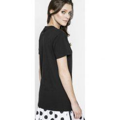 Adidas Originals - Top. Szare topy damskie adidas Originals, z bawełny, z okrągłym kołnierzem, z krótkim rękawem. Za 179.90 zł.