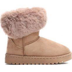 Beżowe Śniegowce Winter Fun. Brązowe buty zimowe dziewczęce Born2be, z materiału. Za 54.99 zł.