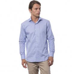 Koszula w kolorze chabrowym. Niebieskie koszule męskie Roberto Cavalli, Trussardi, w kropki, z klasycznym kołnierzykiem. W wyprzedaży za 212.95 zł.