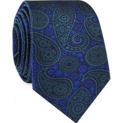 Krawat jedwabny KWWR000312. Niebieskie krawaty i muchy Giacomo Conti, z jedwabiu. Za 129.00 zł.