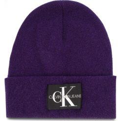 Czapka CALVIN KLEIN JEANS - J Basic Women Knitte K60K604780 507. Fioletowe czapki i kapelusze damskie Calvin Klein Jeans, z jeansu. Za 179.00 zł.
