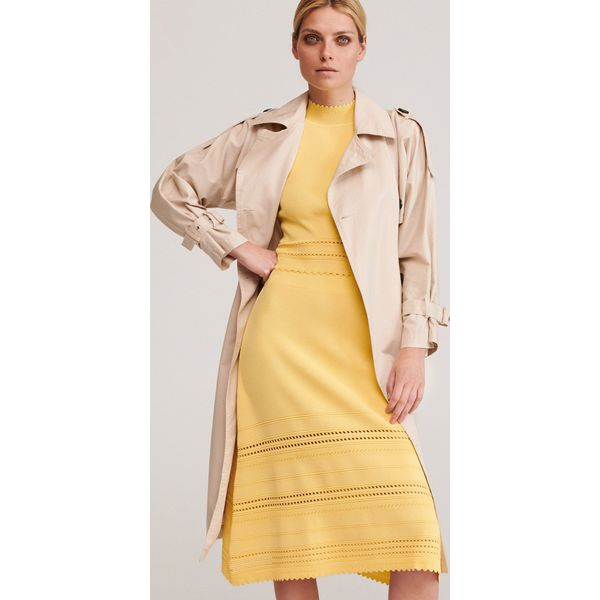 Bluzka z kieszeniami Żółty Żółte bluzki damskie Reserved