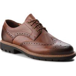 Półbuty CLARKS - Batcombe Wing 261271917 Dark Tan Leather. Brązowe półbuty na co dzień męskie Clarks, z materiału. W wyprzedaży za 229.00 zł.