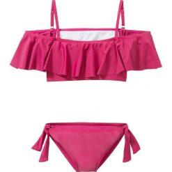 Bikini dziewczęce (2 części) bonprix jeżynowo-czerwony. Bielizna dla dziewczynek marki bonprix. Za 54.99 zł.