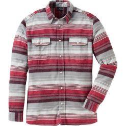 Koszula flanelowa Regular Fit bonprix szaro-czerwony w paski. Koszule męskie marki Giacomo Conti. Za 59.99 zł.