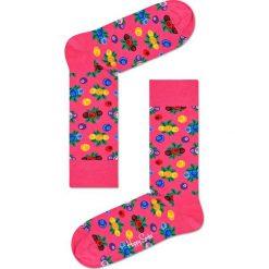 Happy Socks - Skarpetki Berries. Różowe skarpety damskie Happy Socks, z bawełny. Za 39.90 zł.