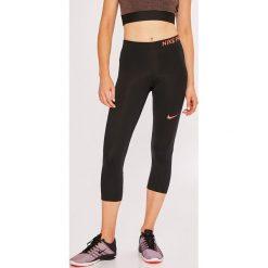 Nike - Legginsy. Szare legginsy sportowe damskie Nike, z dzianiny. W wyprzedaży za 119.90 zł.