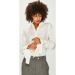 Vero Moda - Koszula Flow. Szare koszule damskie Vero Moda, z bawełny, casualowe, z klasycznym kołnierzykiem, z długim rękawem. W wyprzedaży za 119.90 zł.