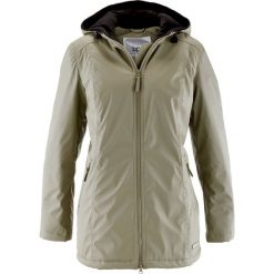Długa kurtka przejściowa, ocieplana bonprix khaki. Zielone kurtki damskie bonprix, z polaru. Za 79.99 zł.