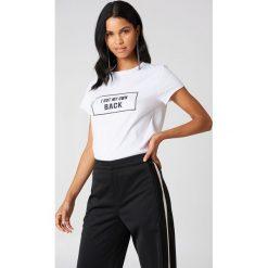 Rut&Circle T-shirt My Own Back - White. Białe t-shirty damskie Rut&Circle, z nadrukiem, z bawełny. Za 80.95 zł.