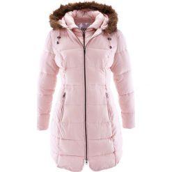 Krótki płaszcz z kapturem bonprix pastelowy jasnoróżowy. Płaszcze damskie marki FOUGANZA. Za 239.99 zł.