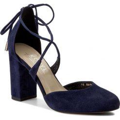 Półbuty KOTYL - 5899 Granat Zamsz. Niebieskie półbuty damskie Kotyl, z materiału, eleganckie. W wyprzedaży za 199.00 zł.