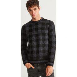 Sweter w kratkę - Szary. Swetry przez głowę męskie marki Giacomo Conti. W wyprzedaży za 49.99 zł.