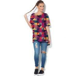 Colour Pleasure Koszulka CP-033  12 fioletowo-różowo-żółta r. uniwersalny. Bluzki damskie Colour Pleasure. Za 76.57 zł.
