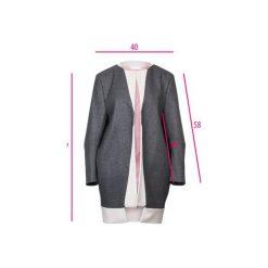 Szaro - pudrowo różowy płaszcz z kaszmiru. Czerwone płaszcze damskie Diamond dust, z jedwabiu. Za 1,300.00 zł.