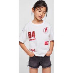 Mango Kids - Szorty dziecięce Stripe 116-164 cm. Spodenki dla dziewczynek marki Pulp. Za 79.90 zł.