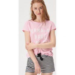 2b84633146743d Dwuczęściowa piżama ze sloganem - Różowy. Piżamy damskie Sinsay. Za 39.99  zł.