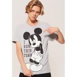 T-shirt Mickey Mouse - Szary. Szare t-shirty męskie House, z motywem z bajki. Za 59.99 zł.