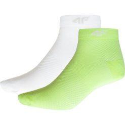 Skarpetki damskie (2 pary) SOD204 - zieleń neon+biały. Białe skarpety damskie 4f, z dzianiny. W wyprzedaży za 19.99 zł.