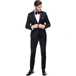 Garnitur LEONARDO GACS000069. Czarne garnitury męskie Giacomo Conti, w geometryczne wzory, z tkaniny. Za 1,799.00 zł.