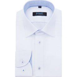 Koszula Biała Smart by Lancerto. Białe koszule męskie LANCERTO, z bawełny, z klasycznym kołnierzykiem. Za 199.90 zł.