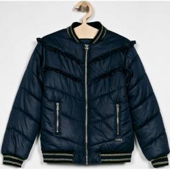 Guess Jeans - Kurtka dziecięca 125-175 cm. Szare kurtki i płaszcze dla dziewczynek Guess Jeans, z aplikacjami, z jeansu. Za 379.90 zł.