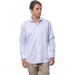 Koszula w kolorze jasnoniebieskim. Niebieskie koszule męskie Roberto Cavalli, Trussardi, z klasycznym kołnierzykiem. W wyprzedaży za 219.95 zł.