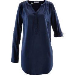 Tunika, długi rękaw bonprix ciemnoniebieski. Niebieskie tuniki damskie bonprix, z długim rękawem. Za 74.99 zł.