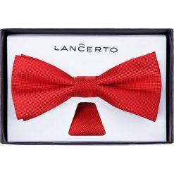 Mucha Czerwona. Czerwone krawaty i muchy LANCERTO, z dzianiny, eleganckie. Za 79.90 zł.