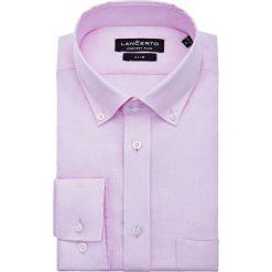 Koszula Różowa Lomiles. Czerwone koszule męskie LANCERTO, na lato, z bawełny, button down, z krótkim rękawem. Za 299.90 zł.