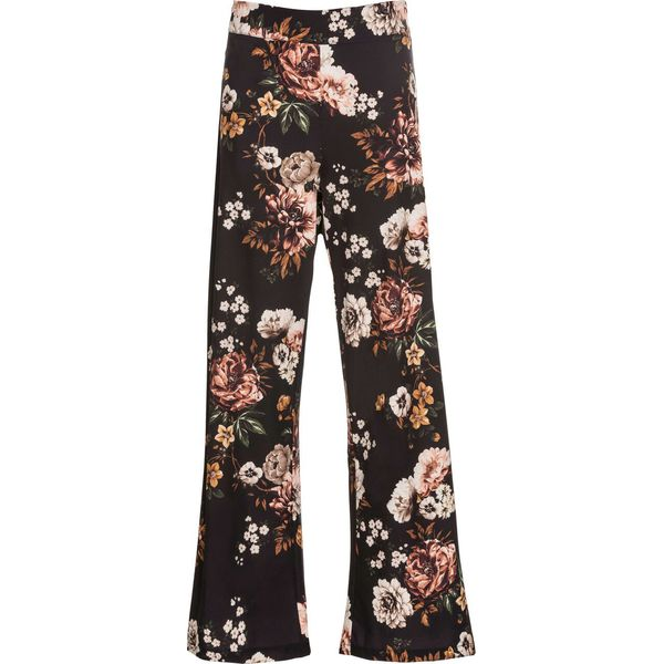 5eb6abb1 Spodnie w kwiaty bonprix czarny z nadrukiem