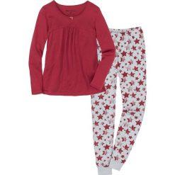 Piżama bonprix pomarańczowoczerwono-jasnoszary melanż z nadrukiem. Piżamy damskie marki MAKE ME BIO. Za 74.99 zł.