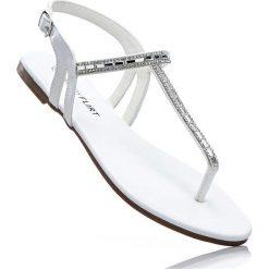 Sandały japonki bonprix srebrny metaliczny. Klapki damskie marki bonprix. Za 37.99 zł.