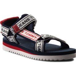 Sandały TOMMY JEANS - Mens Tommy Jeans Technical Sandal EM0EM00160 Midnight 403. Białe sandały męskie Tommy Jeans, z jeansu. Za 299.00 zł.