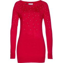 Sweter bonprix czerwony. Swetry damskie marki bonprix. Za 79.99 zł.