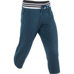 Spodnie sportowe 3/4 bonprix ciemnoniebieski. Spodnie sportowe damskie bonprix, w paski. Za 37.99 zł.