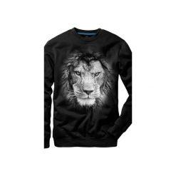 Bluza UNDERWORLD casual Lion. Czarne bluzy męskie Underworld, z nadrukiem, z bawełny. Za 119.99 zł.