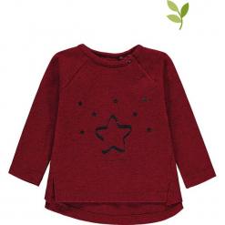 Koszulka w kolorze bordowym. Czerwone bluzki dla dziewczynek bellybutton, z nadrukiem, z bawełny, z okrągłym kołnierzem. W wyprzedaży za 37.95 zł.