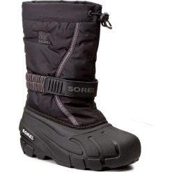 Śniegowce SOREL - Childrens Flurry NC1885 Black/City Grey 016. Śniegowce dziewczęce marki Sorel. W wyprzedaży za 189.00 zł.