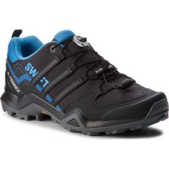 Buty adidas - Terrex Swift R2 AC7980 Cblack/Cblack/Brblue. Czarne trekkingi męskie Adidas, z materiału. W wyprzedaży za 369.00 zł.