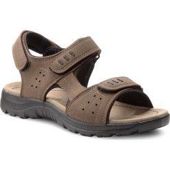 Sandały LANETTI - MS17008-1 Khaki. Brązowe sandały męskie Lanetti, z materiału. W wyprzedaży za 59.99 zł.