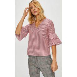 Trendyol - Bluzka. Szare bluzki damskie Trendyol, z bawełny, z okrągłym kołnierzem. W wyprzedaży za 59.90 zł.