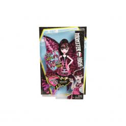 Lalka Monster High Draculaura Wampiskrzydła 2 w 1 DNX65. Białe bielizna dla dziewczynek Monster High, z nadrukiem. Za 98.00 zł.