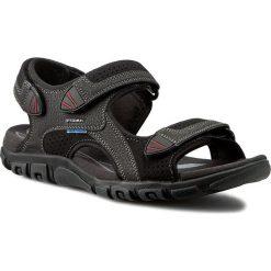 Sandały GEOX - U S.Strada Wf C U6224C 0AU50 C9999  Czarny. Czarne sandały męskie Geox, z materiału. W wyprzedaży za 229.00 zł.